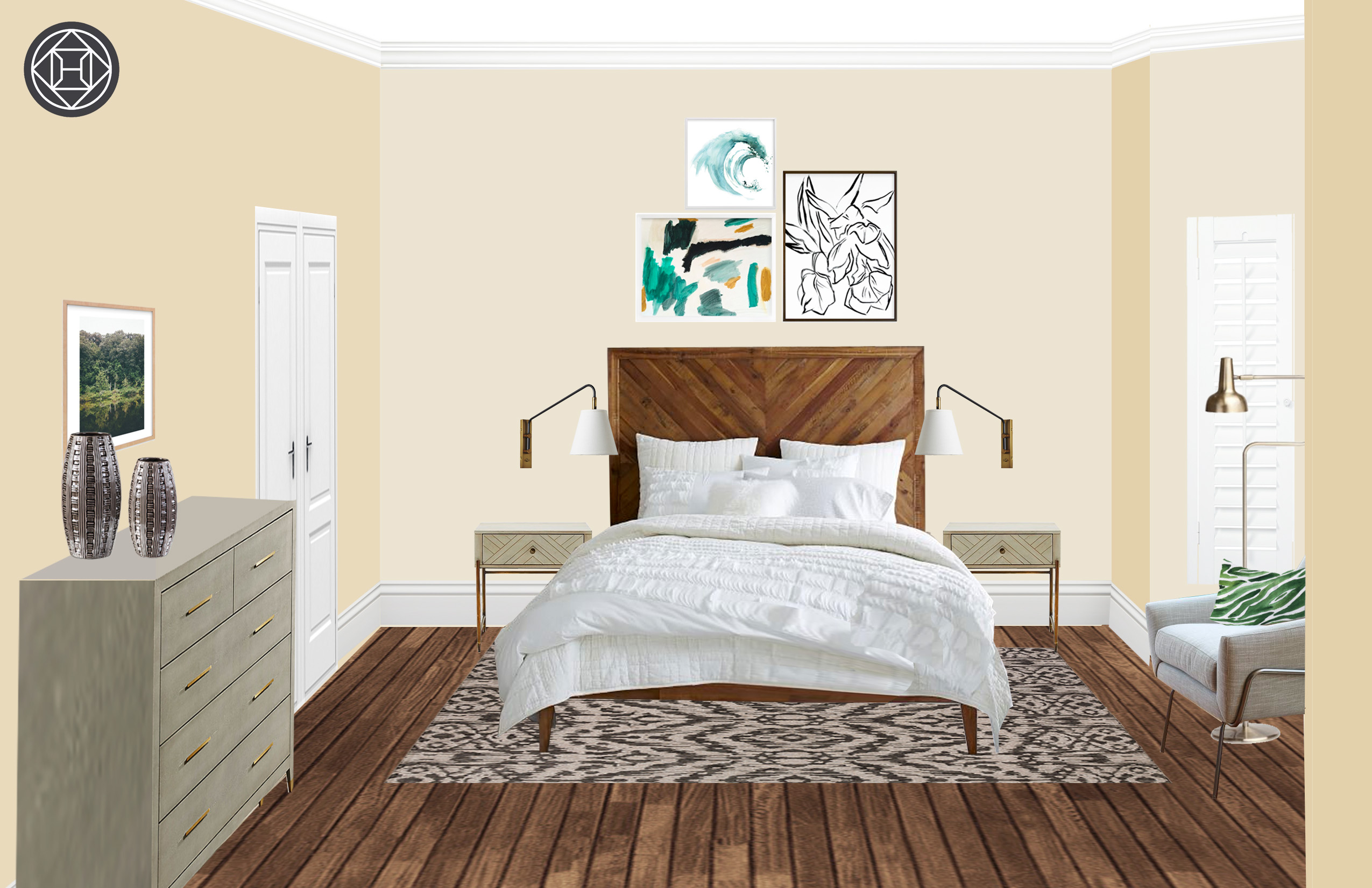 Modern Bedroom Layout Eclectic Bohemian Midcentury Modern Bedroom Design By Havenly
