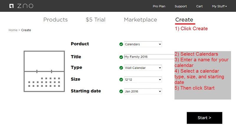 Zno \u2014 How to Create a Calendar? - create a picture calender
