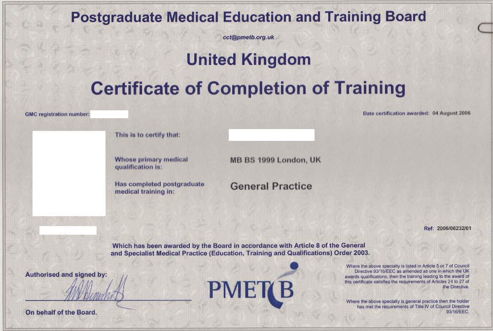 Certificate of Completion of Training (CCT) \u2013 Lantum