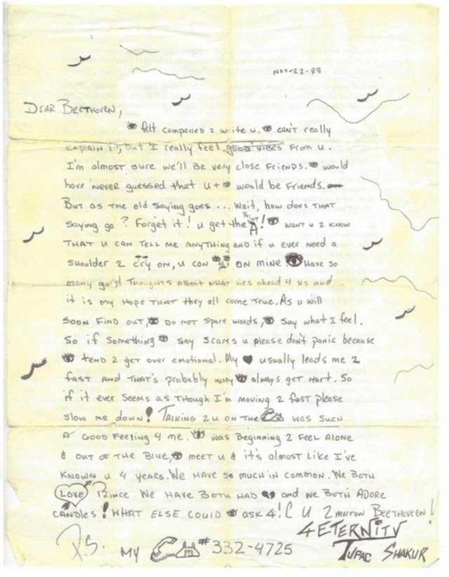 Tupac Love Letter From High School Up For Sale HipHopDX