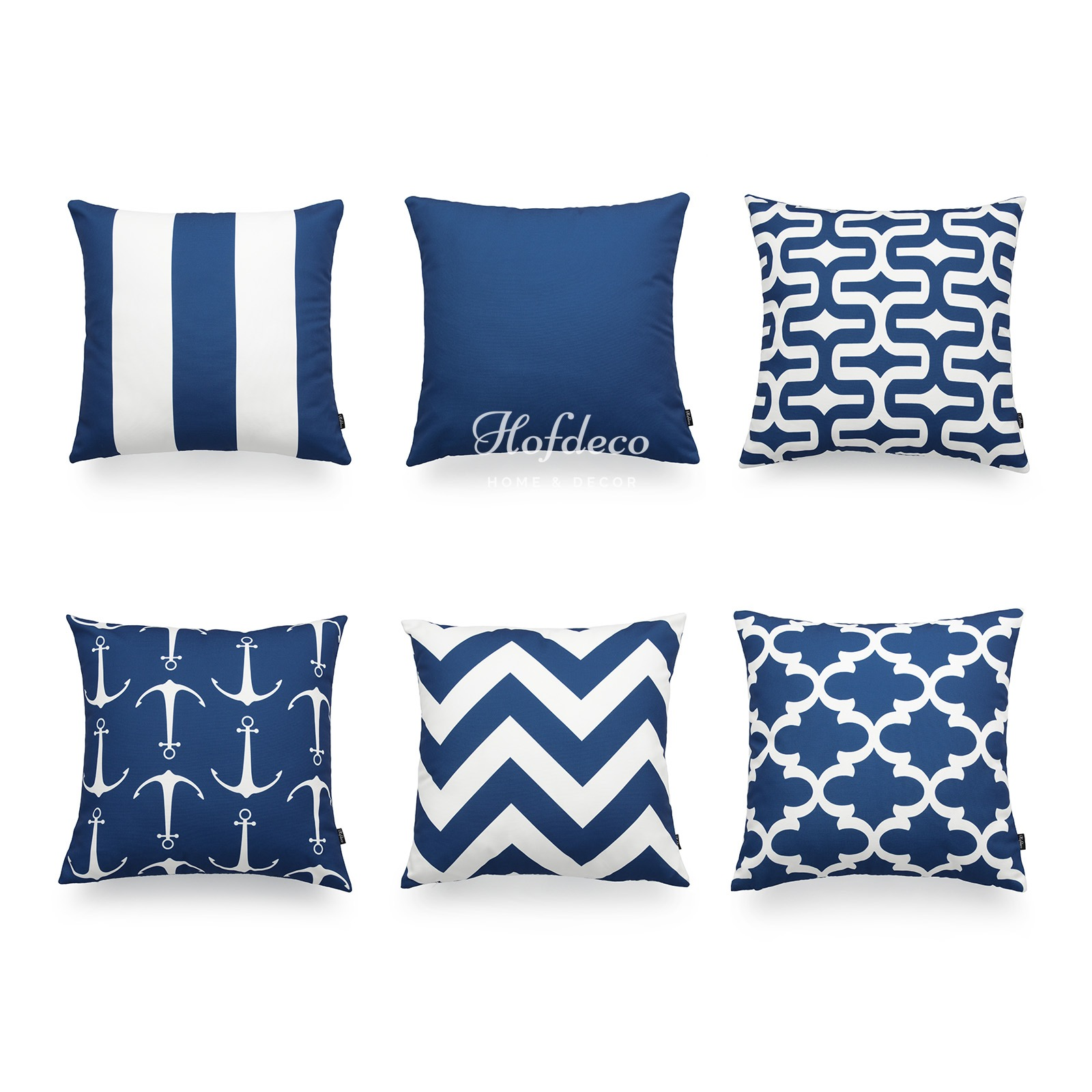 Nautical Sofa Throws Hofdeco Decorative Throw Pillow Cover Navy Blue Nautical Geometric