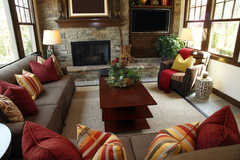 53 Cozy \ Small Living Room Interior Designs (SMALL SPACES) - red and brown living room