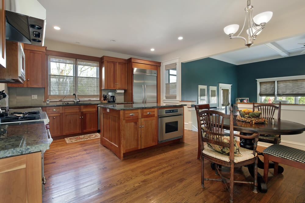 How To Anchor A Kitchen Island 43 Kitchens With Extensive Dark Wood Throughout