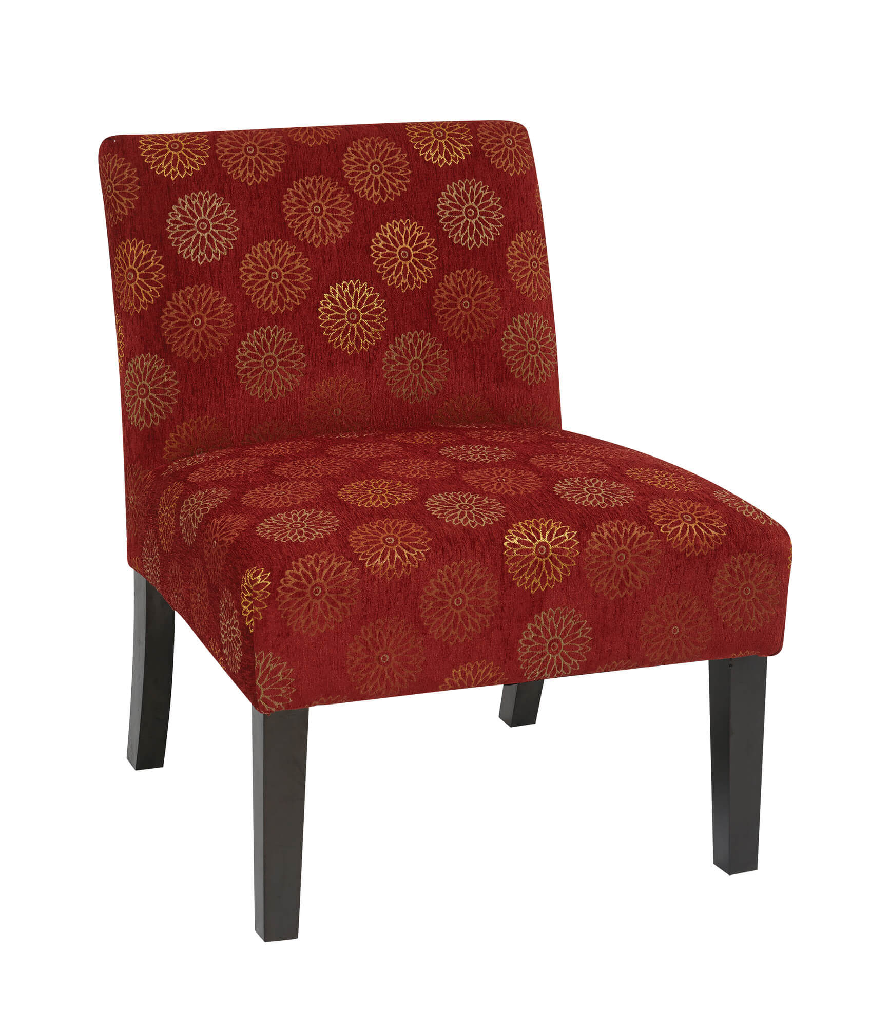 Here s a classic accent chair in that it offers a splash of color to a dark