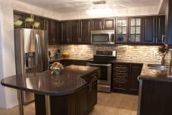 Small Of Dark Kitchen Cabinets