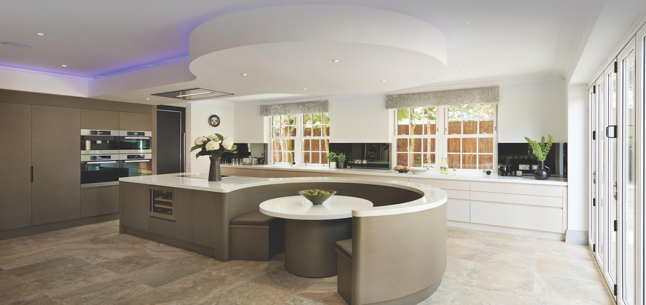 Hilarious Kitchen Designs By Reeva Design Kitchens Tables Design Kitchen Island Table Kitchen Island Tables kitchen Modern Kitchen Island Table