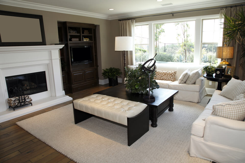 50 Beautiful Living Rooms with Ottoman Coffee Tables - tables for living room