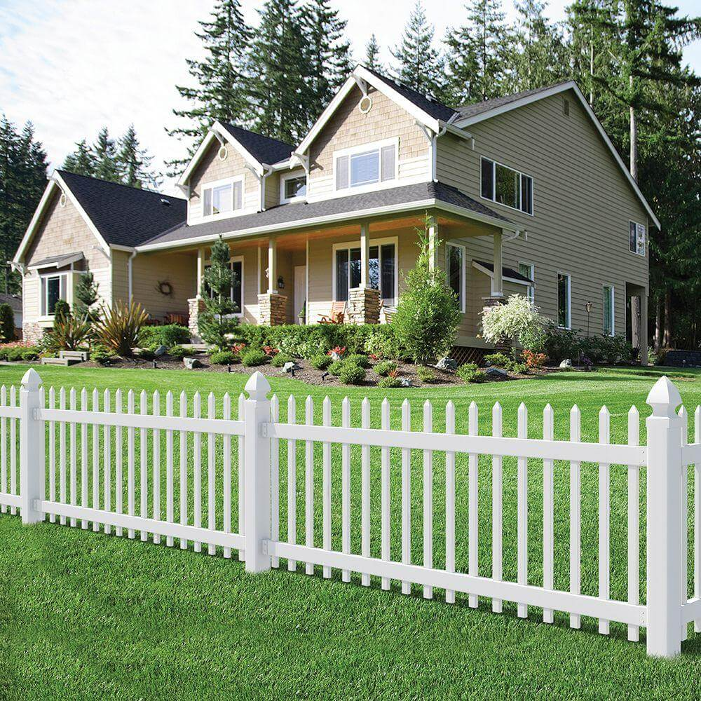 Modern Farmhouse Fence 75 Fence Designs Styles Patterns Tops Materials And Ideas