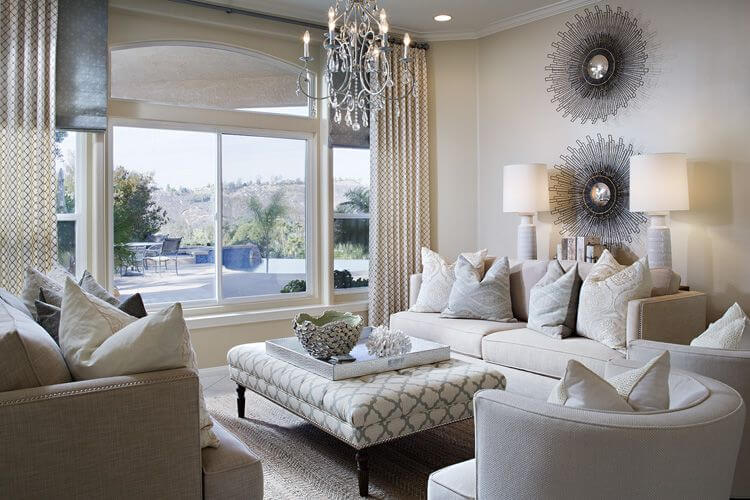 50 Beautiful Living Rooms with Ottoman Coffee Tables - living room ottoman