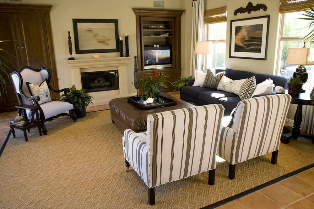 50 Beautiful Living Rooms with Ottoman Coffee Tables - beautiful living room sets
