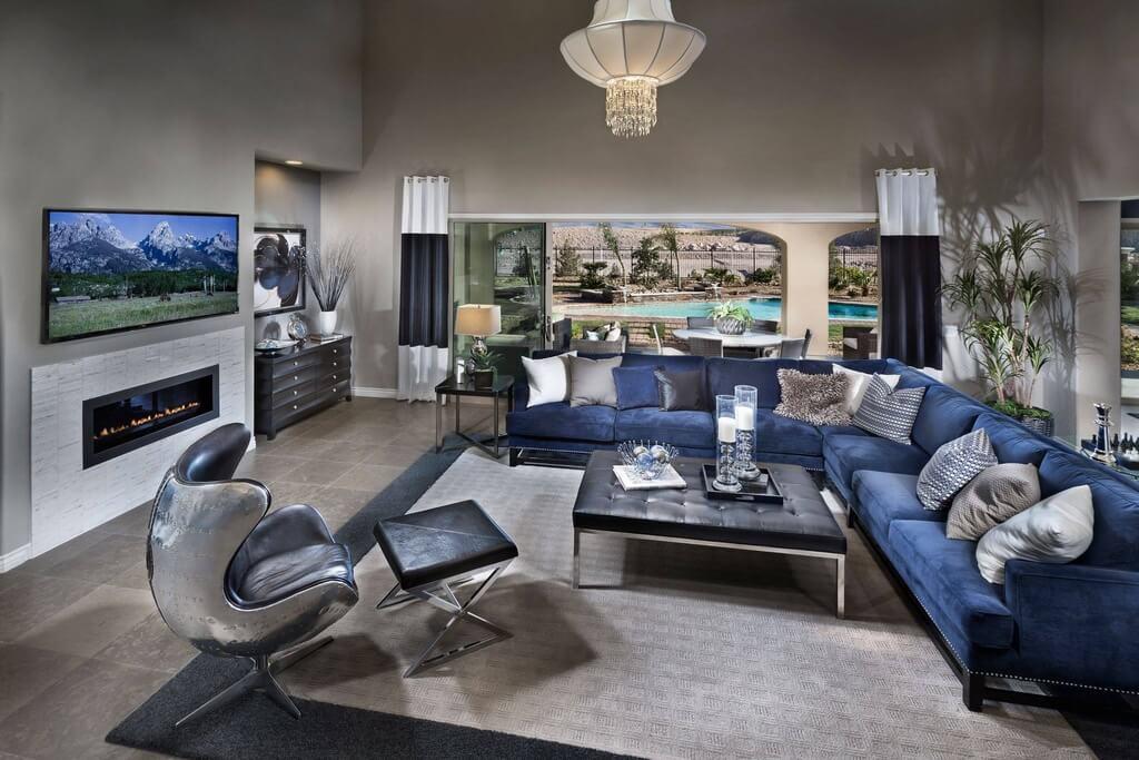 Navy Blue Ottoman Epic Furnishings Vanderbilt Tufted Panel - living room ottoman