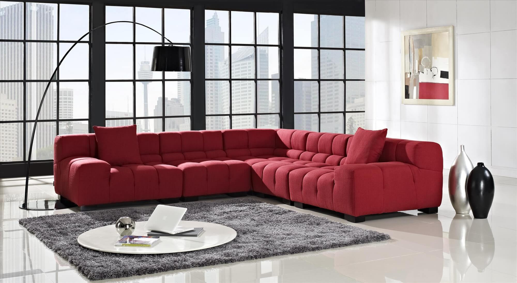 Moderne Sofa 18 Stylish Modern Red Sectional Sofas