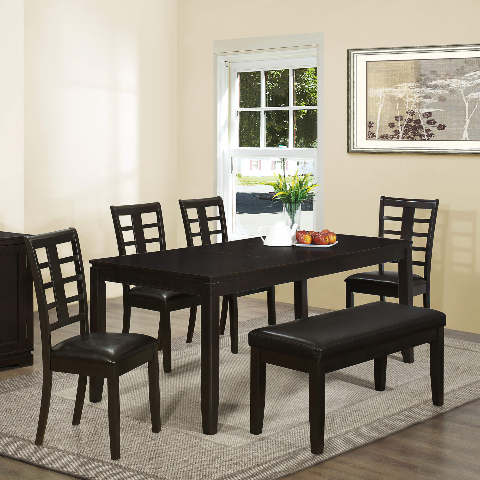 dining room sets bench seating kitchen table chairs Contemporary Asian inspired dining set with bench is a good size being able to accommodate