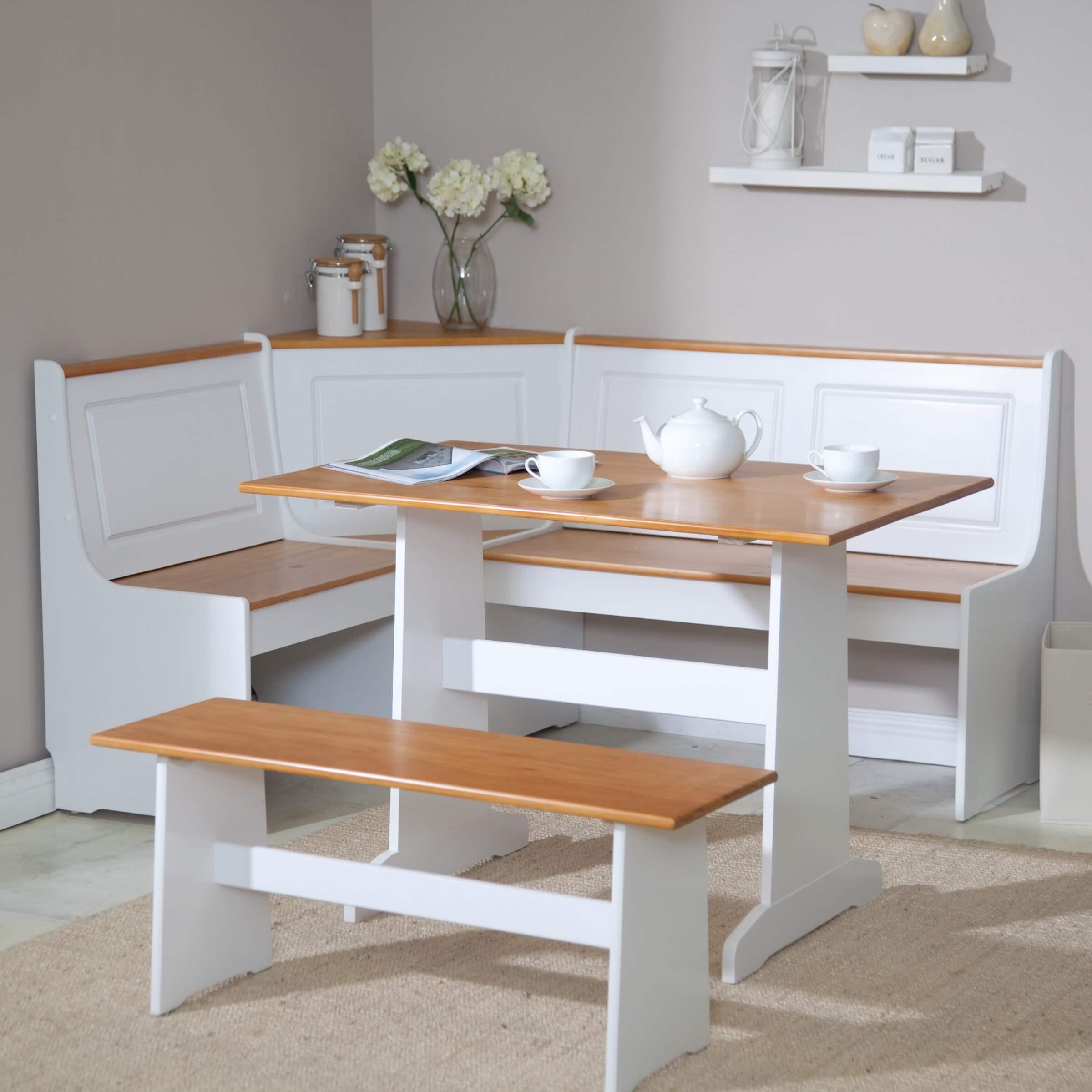 breakfast nook furniture sets wood kitchen table sets Ardmore Breakfast Nook Set