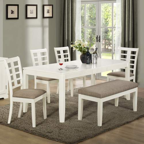 dining room sets bench seating white kitchen table Built with solid wood and MDF board this white and grey dining set with bench