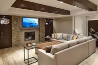 Custom Finished Basement Rec Room Created by Drury Design