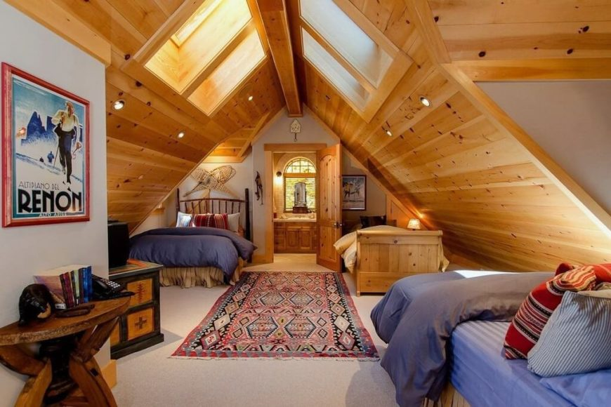 Wohnzimmer Loft Bilder 60 Attic Bedroom Ideas (many Designs With Skylights)