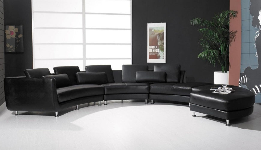 25 Contemporary Curved and Round Sectional Sofas - contemporary curved sofa