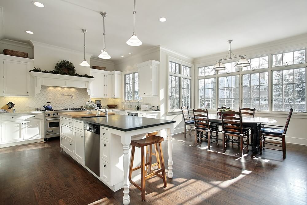 Black Kitchen Islands With Butcher Block Top Kitchen Amazing 21 Kitchens With Windows That Allow Plenty Of Natural
