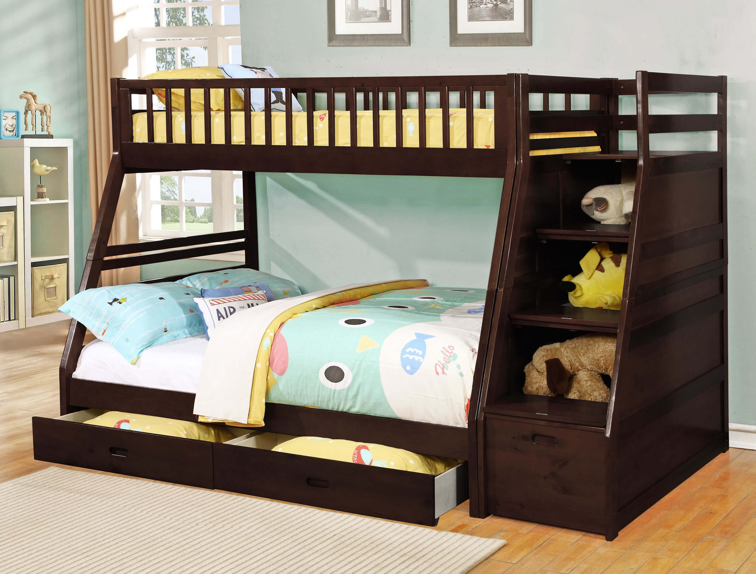 Tweepersoons Stapelbed 24 Designs Of Bunk Beds With Steps Kids Love These