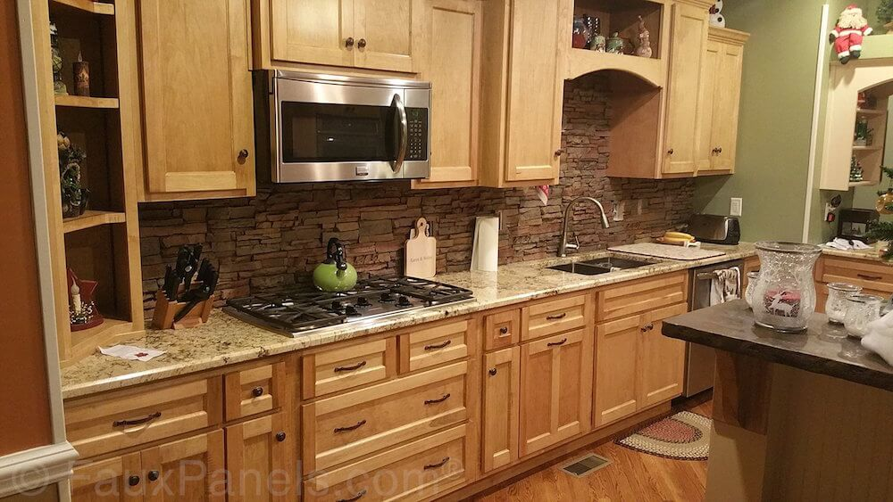 faux brick rock panel ideas pictures panels lowes antique kitchen backsplash panels