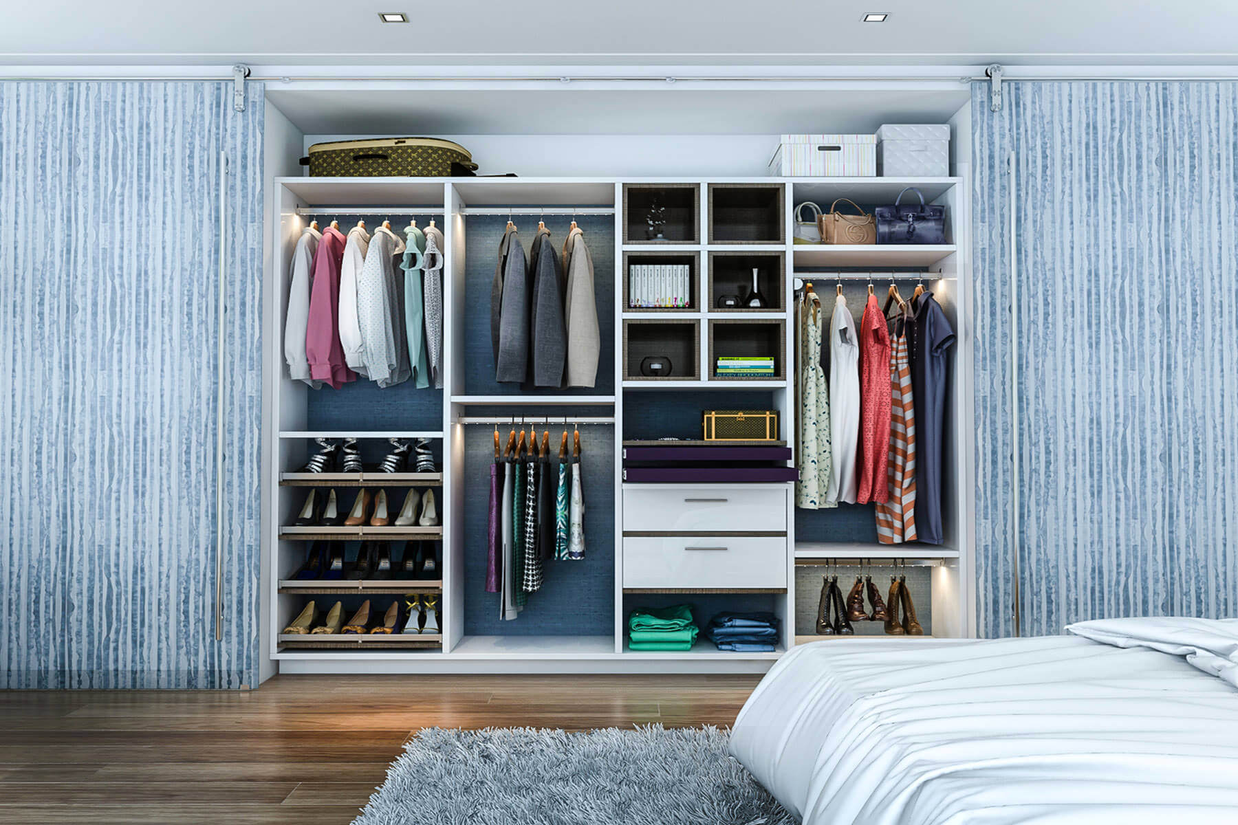 Ankleidezimmer Systeme 45 Custom Closet Organizer Ideas Reach In Design Photos