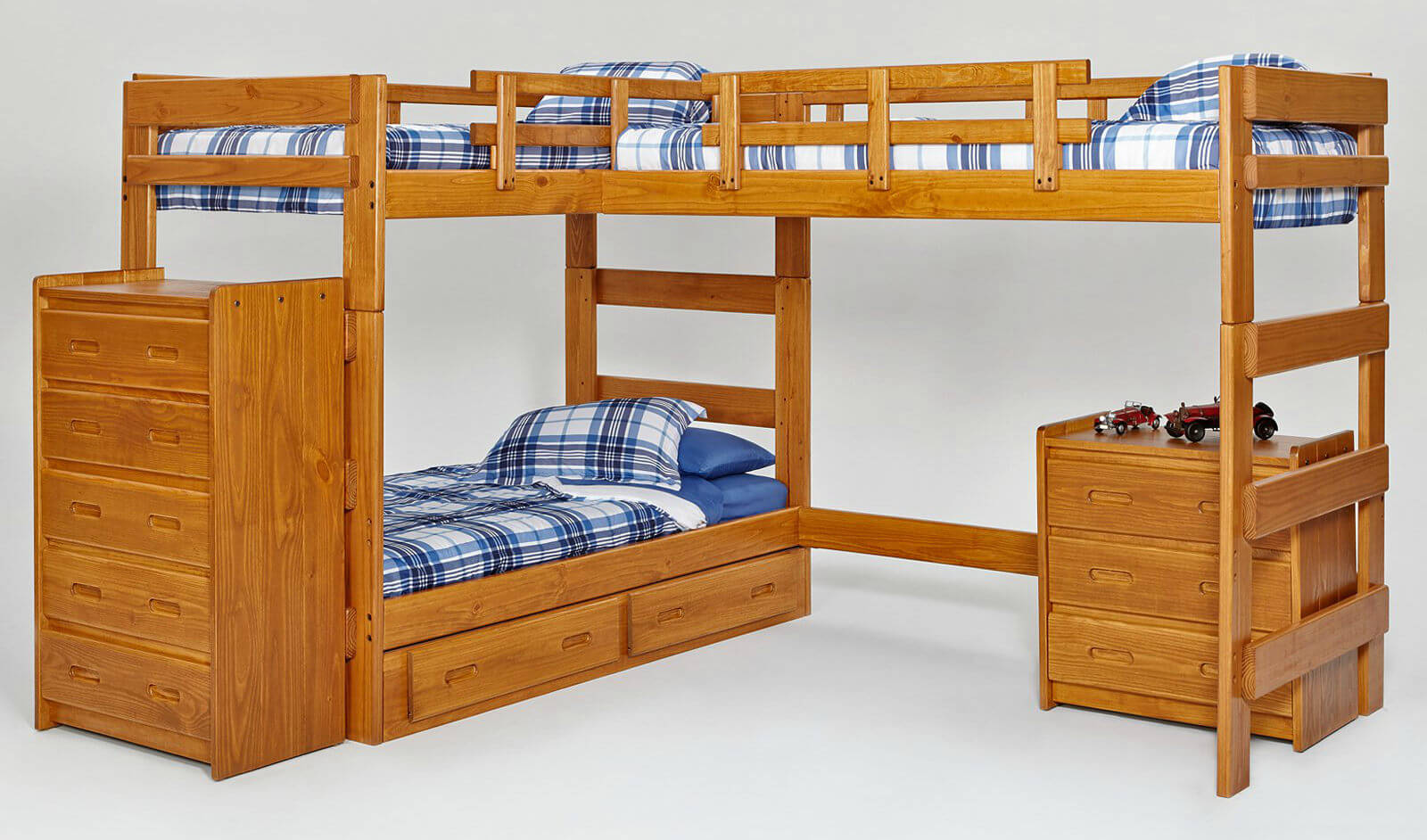 3 Twin Beds In The Space Of 1 34 Fun Girls And Boys Kid 39s Beds And Bedrooms Photos