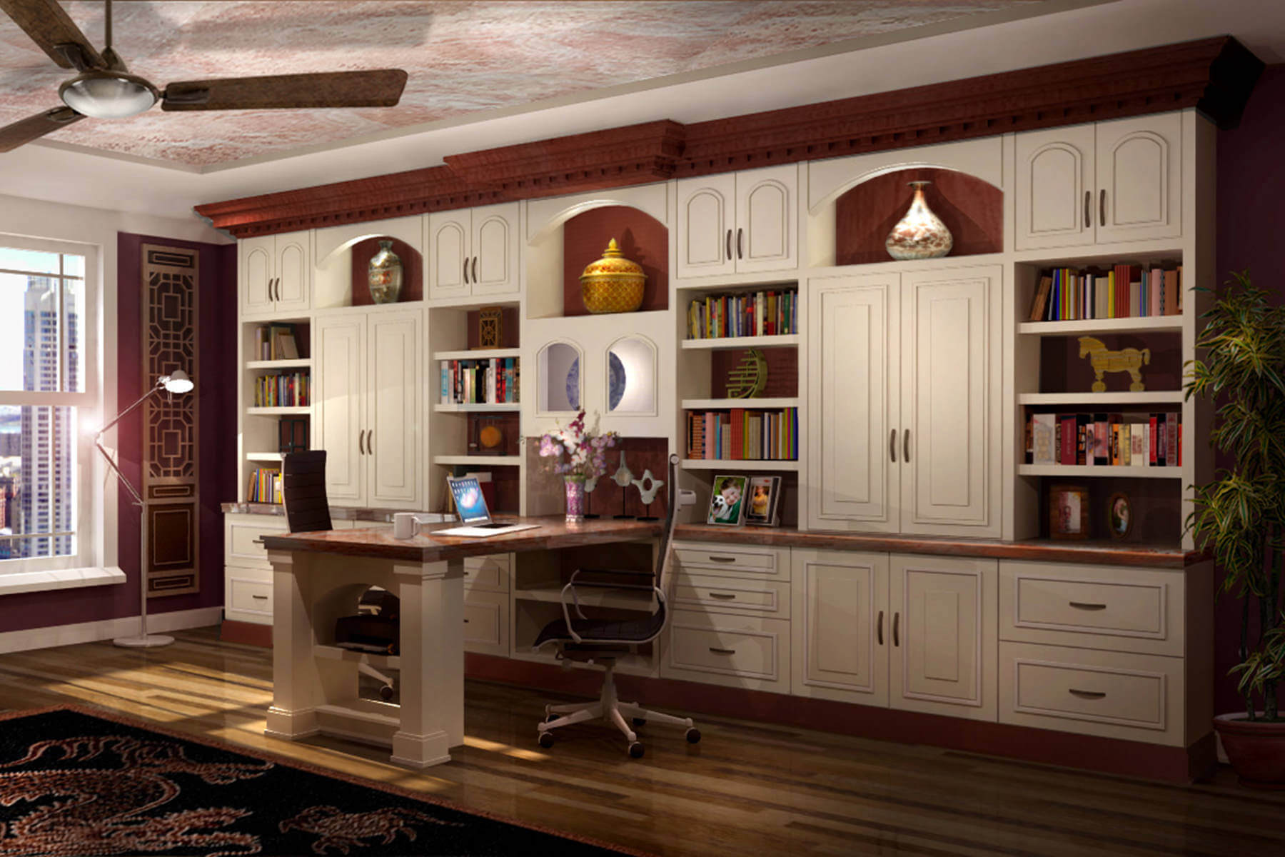 Office Storage Units 26 Home Office Designs Desks And Shelving By Closet Factory