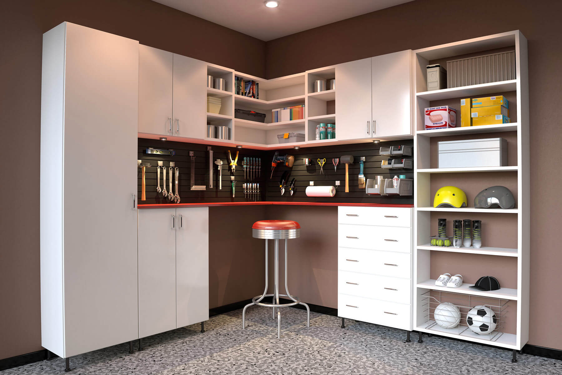 Gracious Storage Space Is Maximized Through Use Basic Tall Melaminecabinets Storage Cabinets Wall A Combination Storage Ideas Man Wall furniture Wall Of Storage