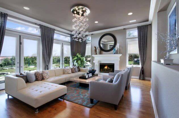 Combine modern design with a little luxury using this color scheme