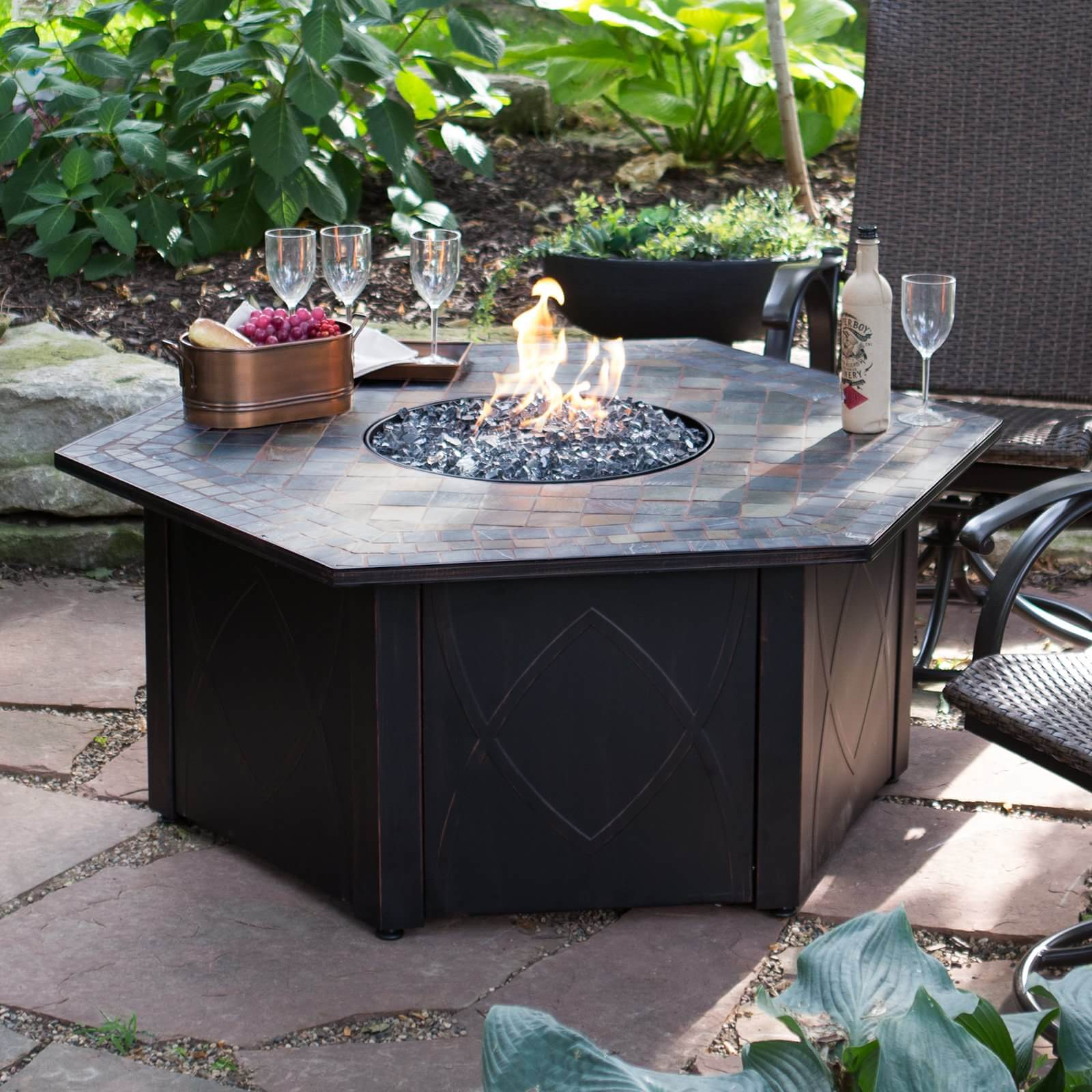 Fire Pit Big W Top 15 Types Of Propane Patio Fire Pits With Table Buying