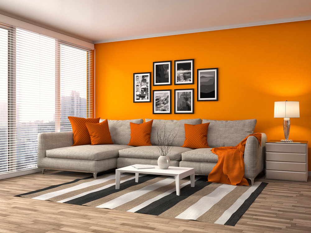 Wohnzimmer Orange Couch 40 Orange Living Room Ideas (photos)