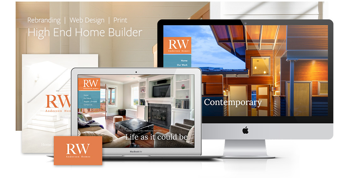 Construction Website Design RW Anderson Bizango