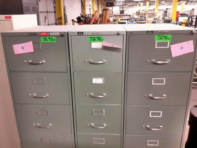 Ibid Lot 7275 Steelmaster File Cabinets With Keys 3 Each