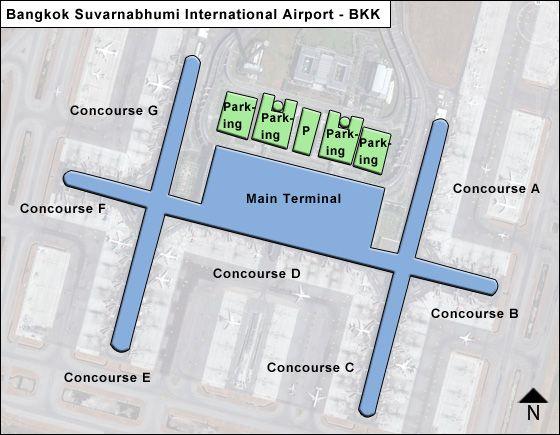 Bangkok Suvarnabhumi Bkk Airport Terminal Map