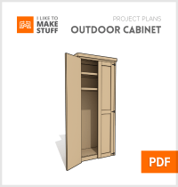 Outdoor Cabinet - Digital Plan - I Like to Make Stuff