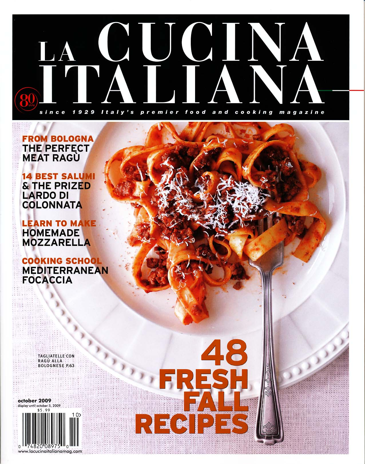 The Magazine Of La Cucina Italiana Charitybuzz Italian Culture In New York Lot 317039
