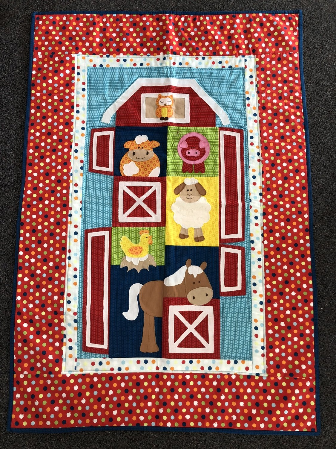 Single Bed Topper Farmyard Single Bed Topper Completed Quilt