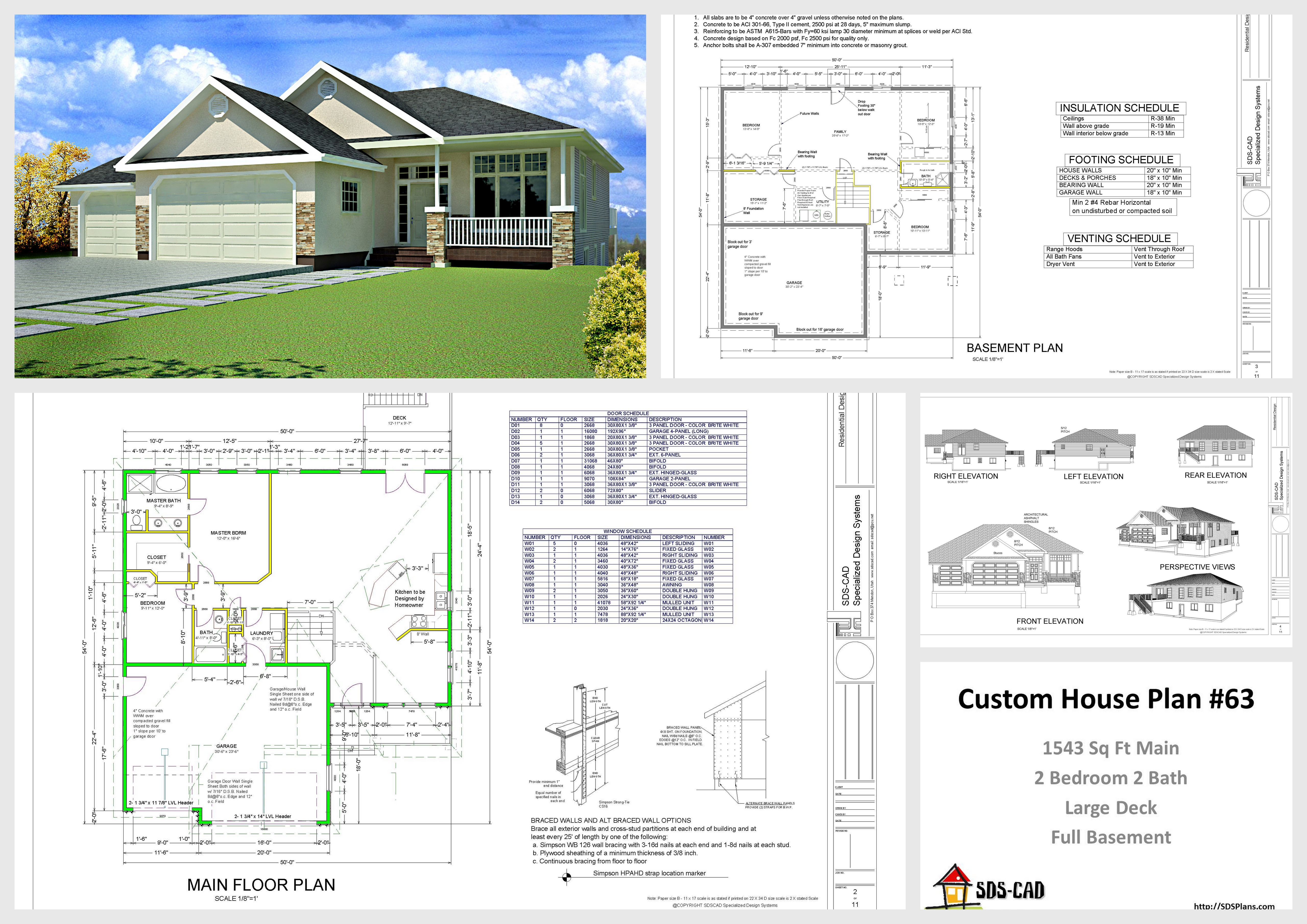 Complete House Plan House And Cabin Plans