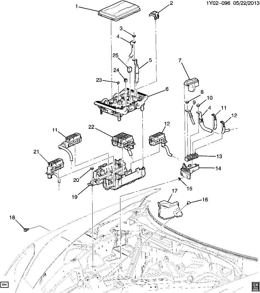 corvette fuse box diagram image details
