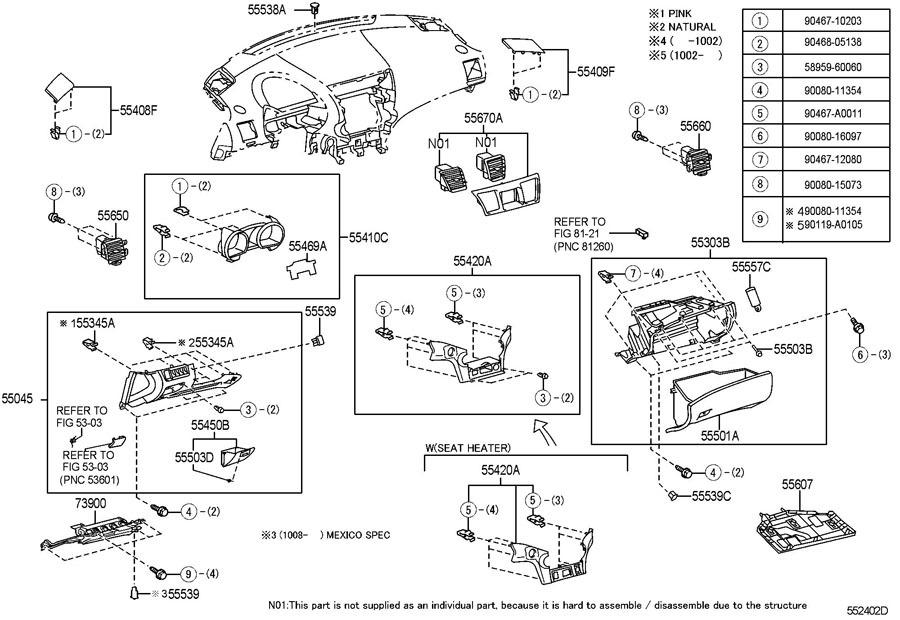 2010 toyota highlander fuse panel diagram