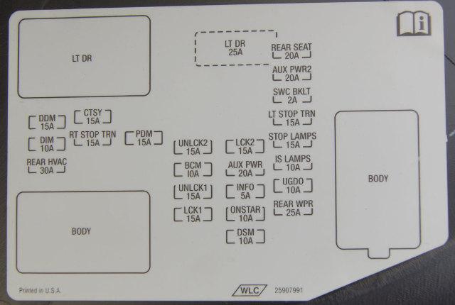 2008 Hummer H2 Fuse Box Wiring Diagram