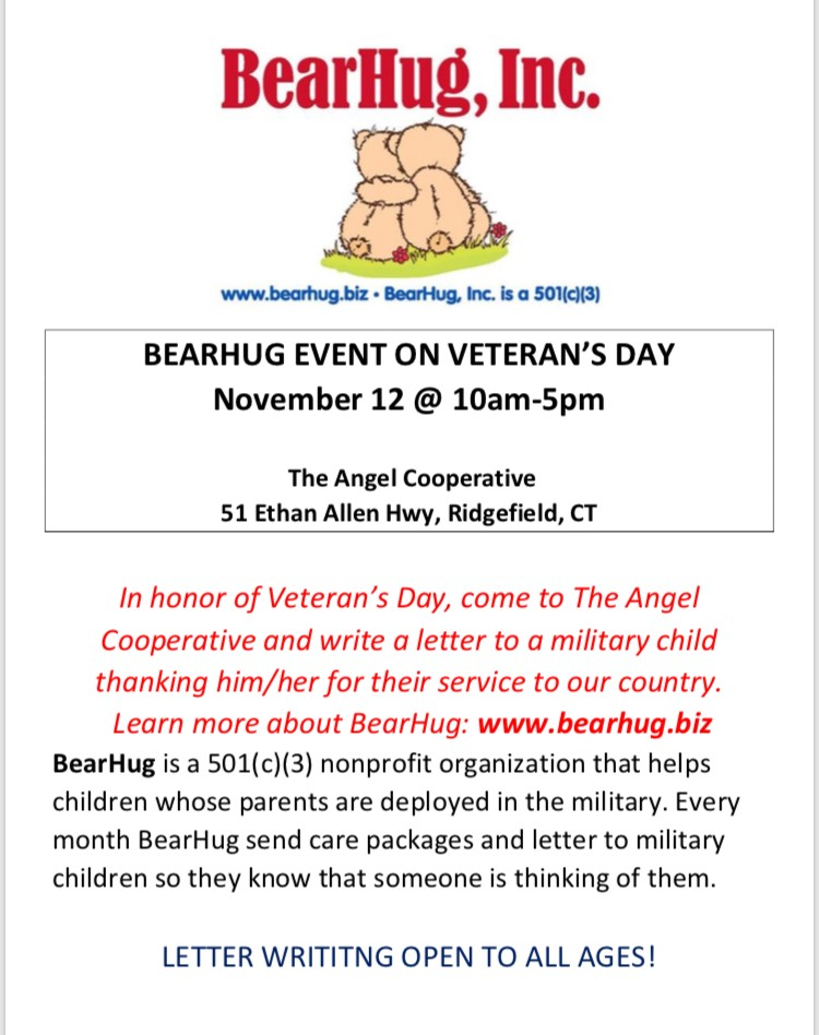 Ridgefield nonprofits invites you to honor our veterans by writing a
