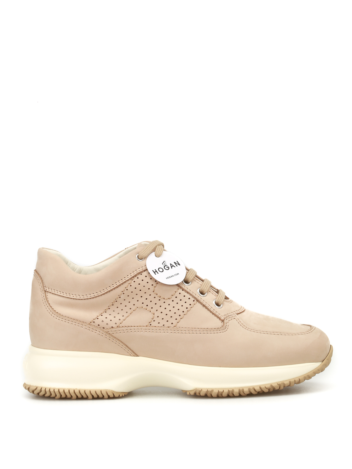 Hogan Shoes Perforated H Interactive Nude Shoes