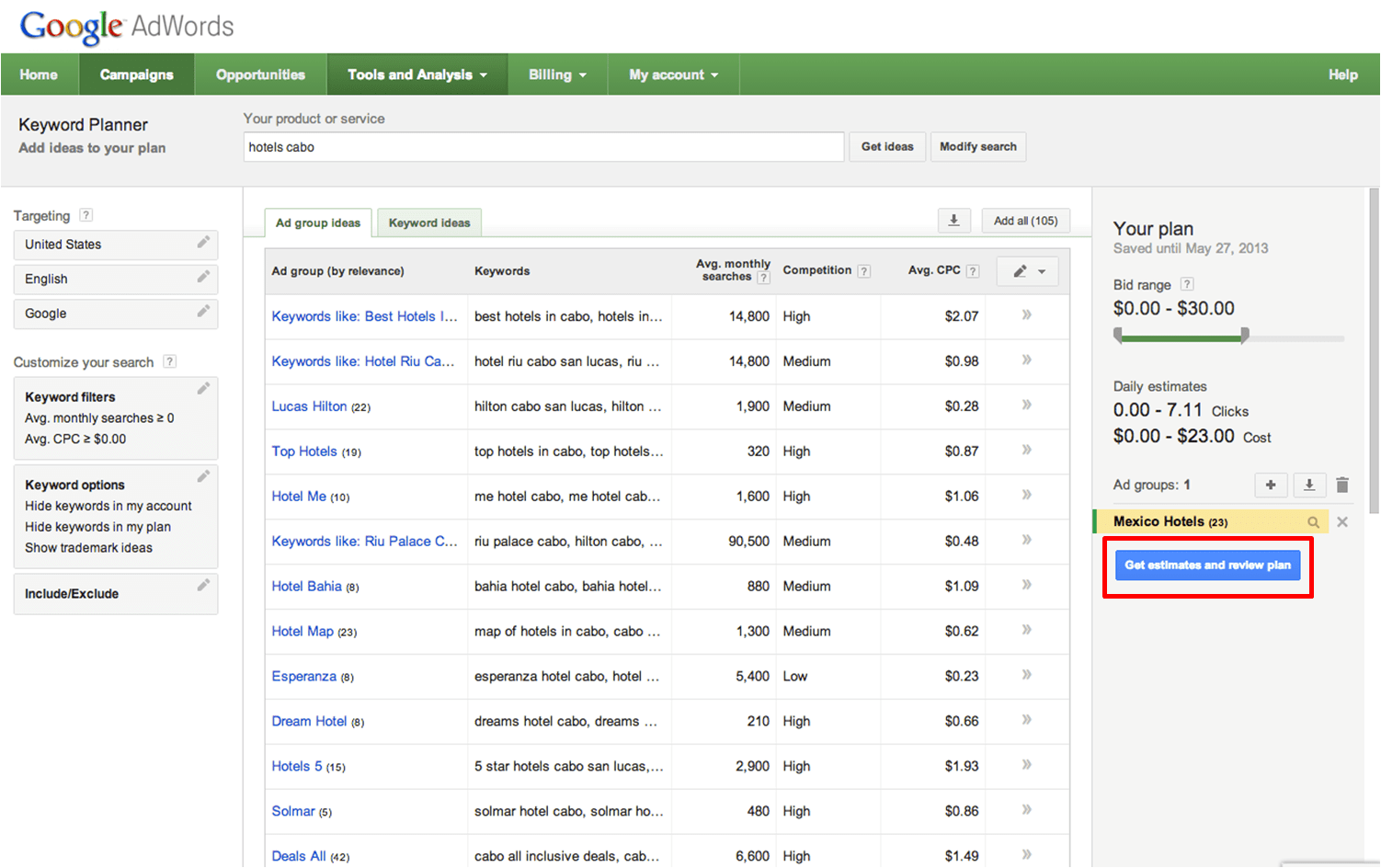 Google Adwords Keyword The Google Adwords Keyword Ad Planner