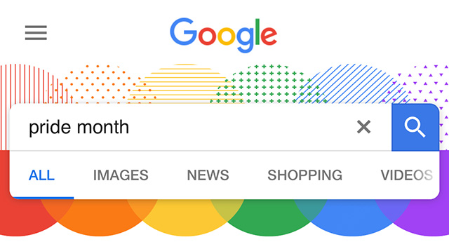 Google Search Is Decorated For Gay Pride Month
