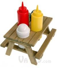 Picnic Table Condiment Set: Perfect Grilling Companion