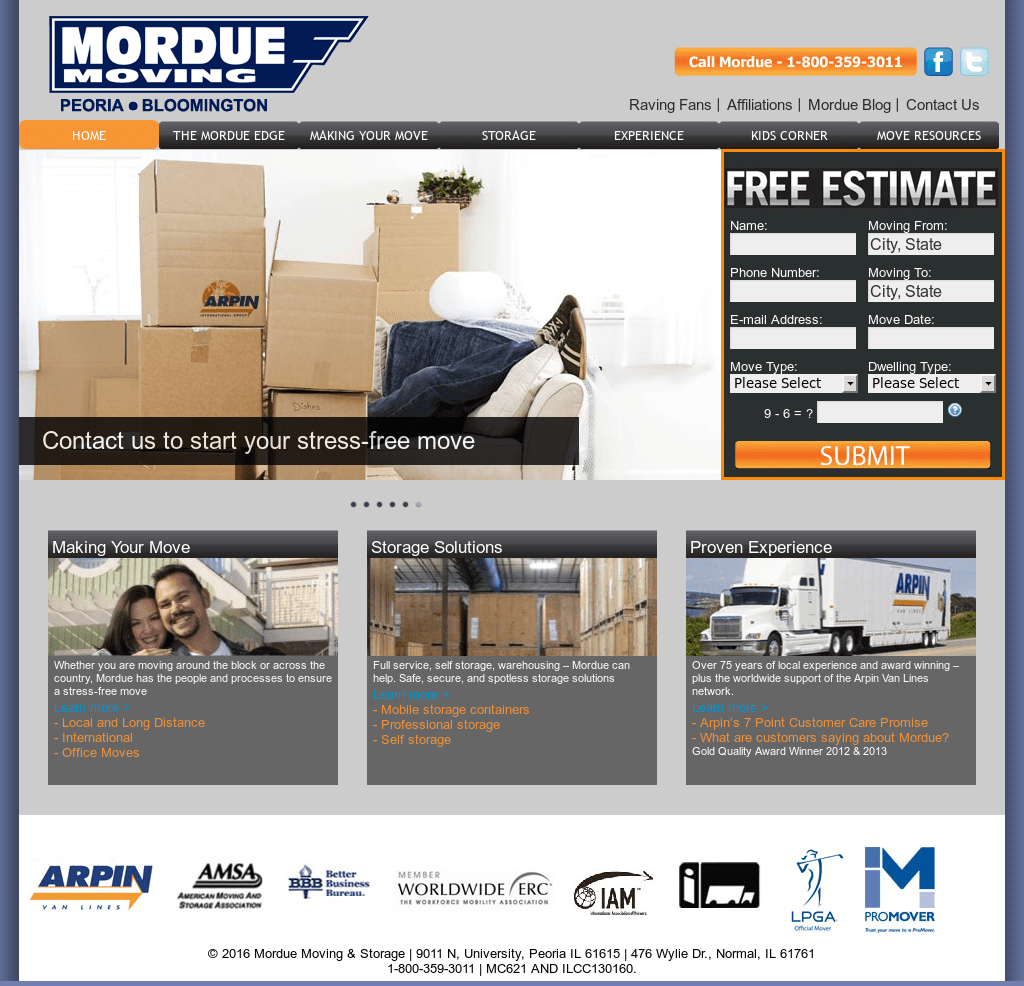 Peoria Storage Mordue Moving Storage Competitors Revenue And Employees Owler
