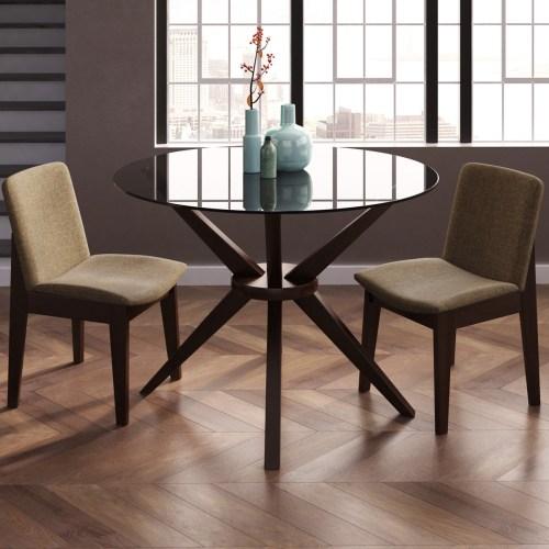 Medium Of Glass Dining Room Table