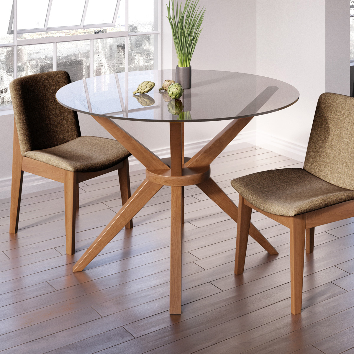 Glass Dining Table And Chairs Magna Round Glass Dining Table